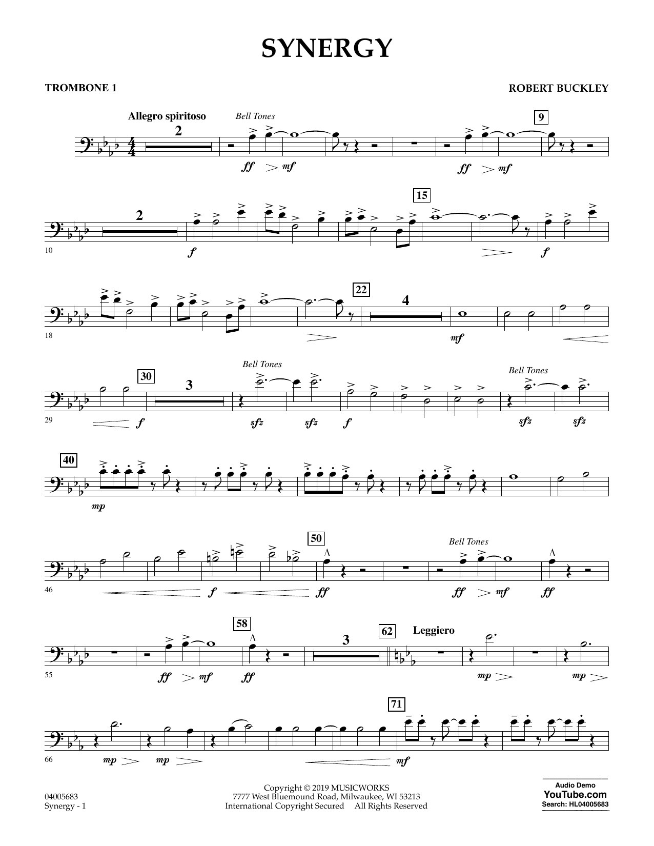 Synergy - Trombone 1 (Concert Band)