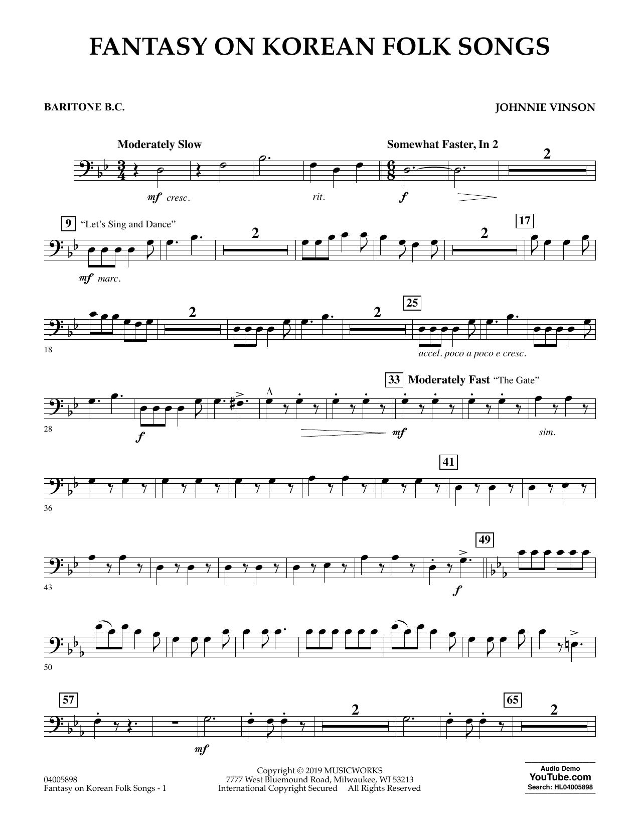 Sing, Sing, Sing - C Lead Sheet - BC