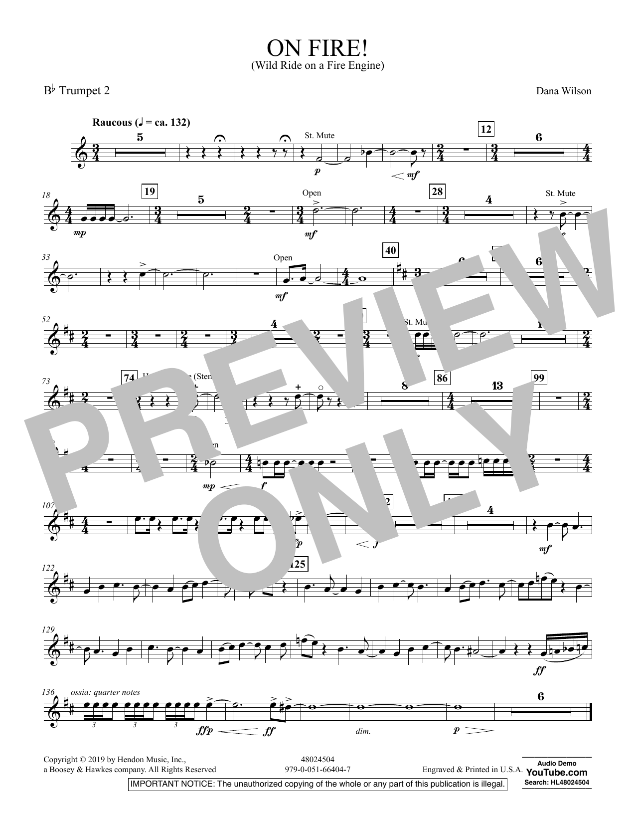 On Fire! (Wild Ride on a Fire Engine) - Bb Trumpet 2 (Concert Band)