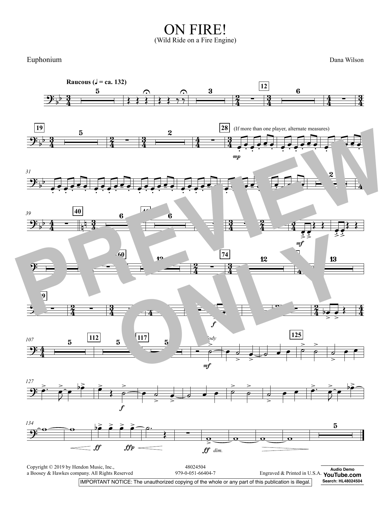 On Fire! (Wild Ride on a Fire Engine) - Euphonium (Concert Band)