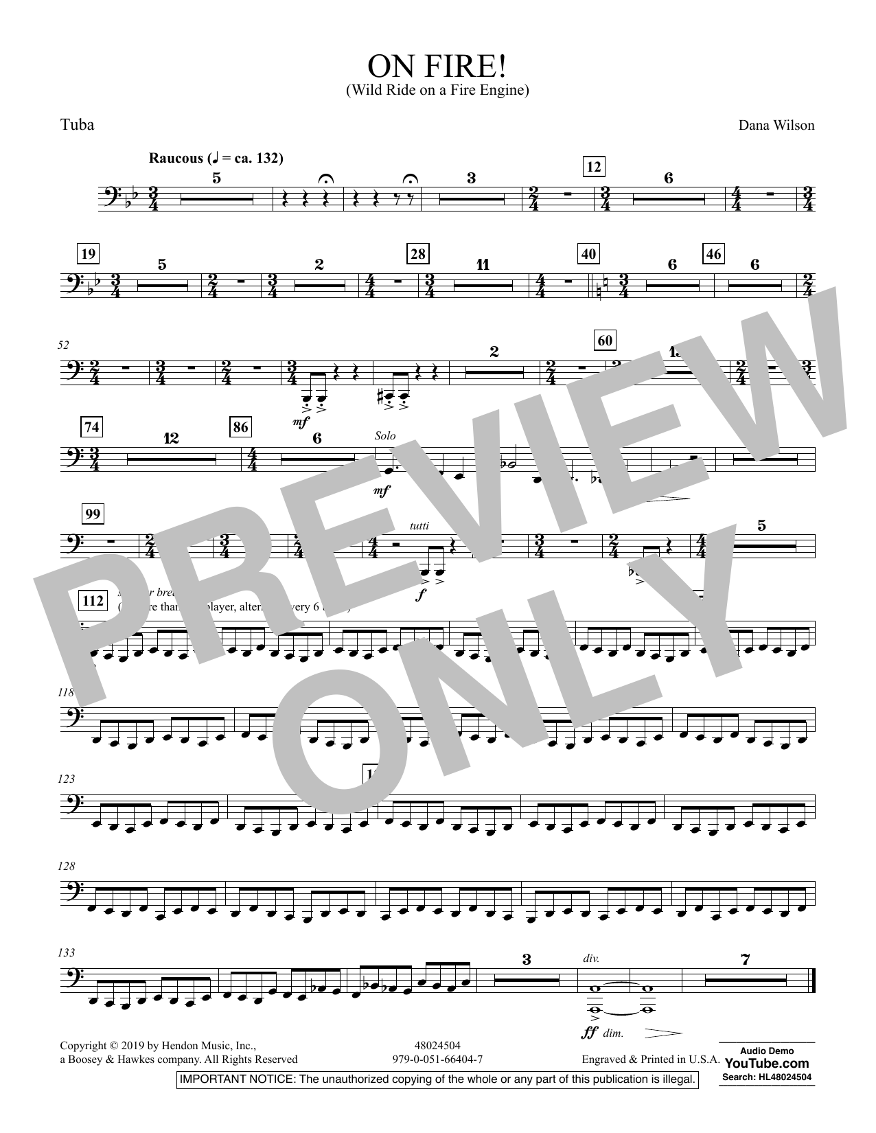 On Fire! (Wild Ride on a Fire Engine) - Tuba (Concert Band)