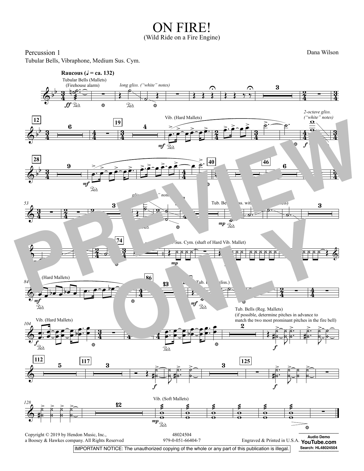 On Fire! (Wild Ride on a Fire Engine) - Percussion 1 (Concert Band)