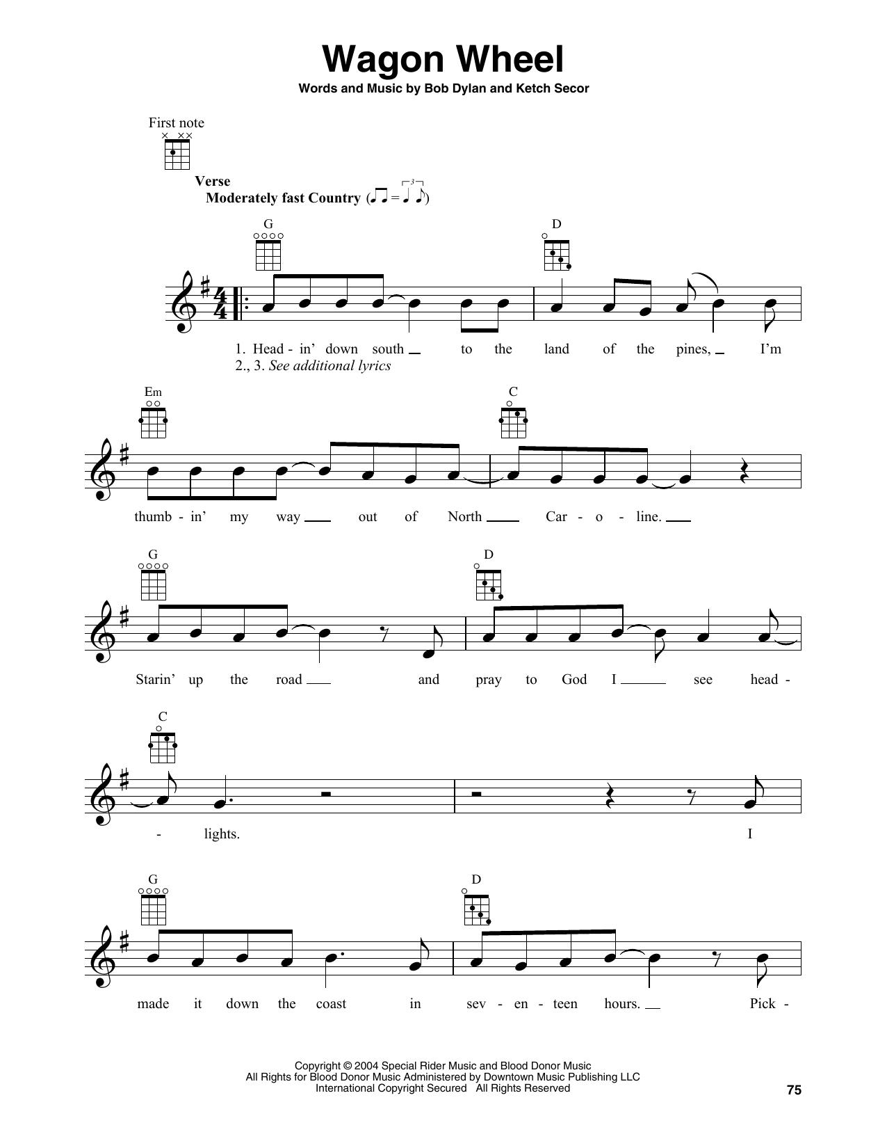 Wagon Wheel (Banjo Tab)