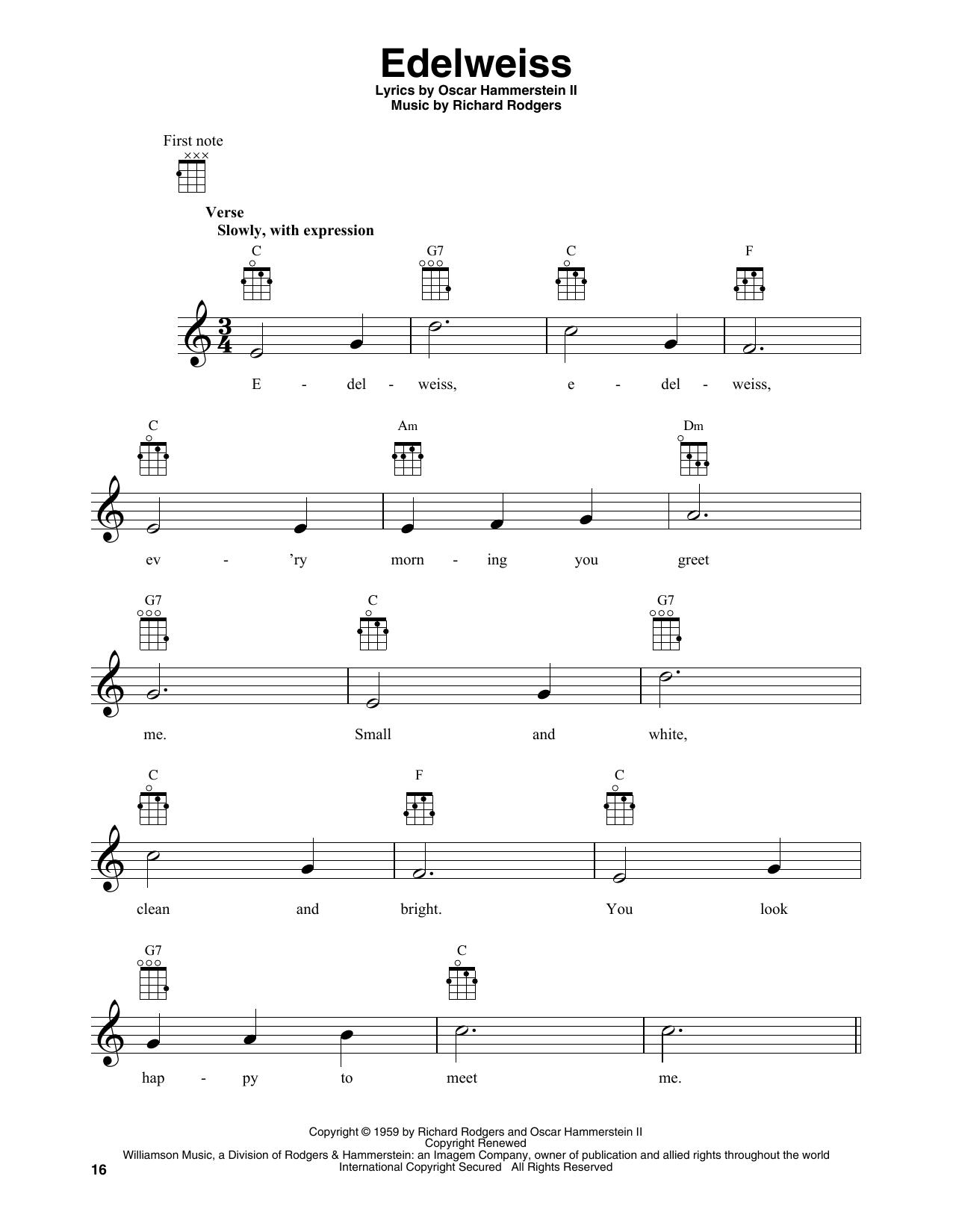 Edelweiss (Banjo Tab)