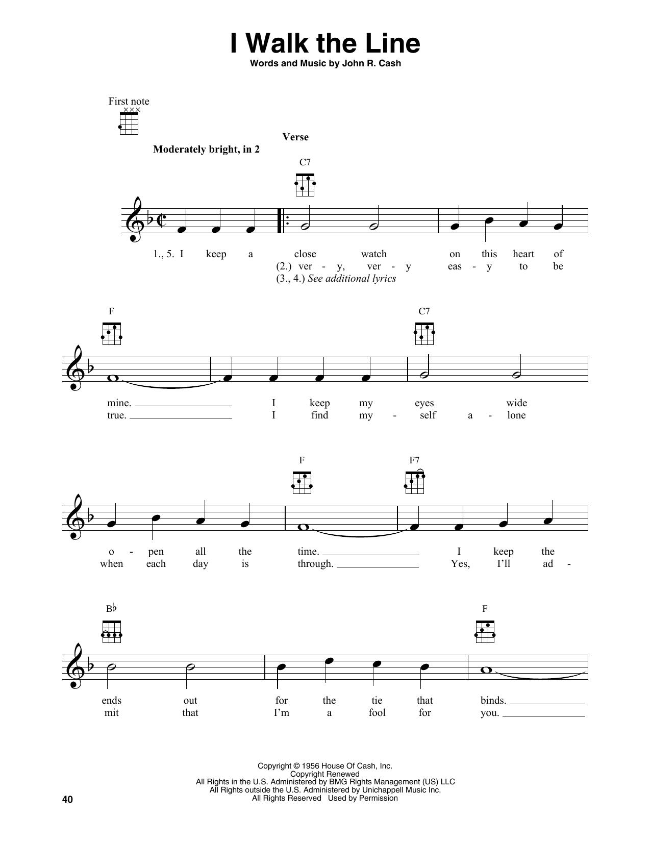I Walk The Line (Banjo Tab)