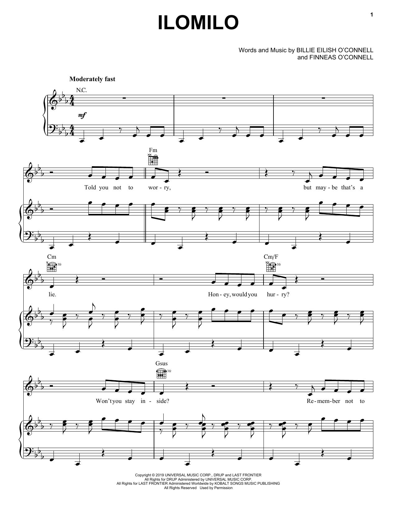 ilomilo (Piano, Vocal & Guitar (Right-Hand Melody))