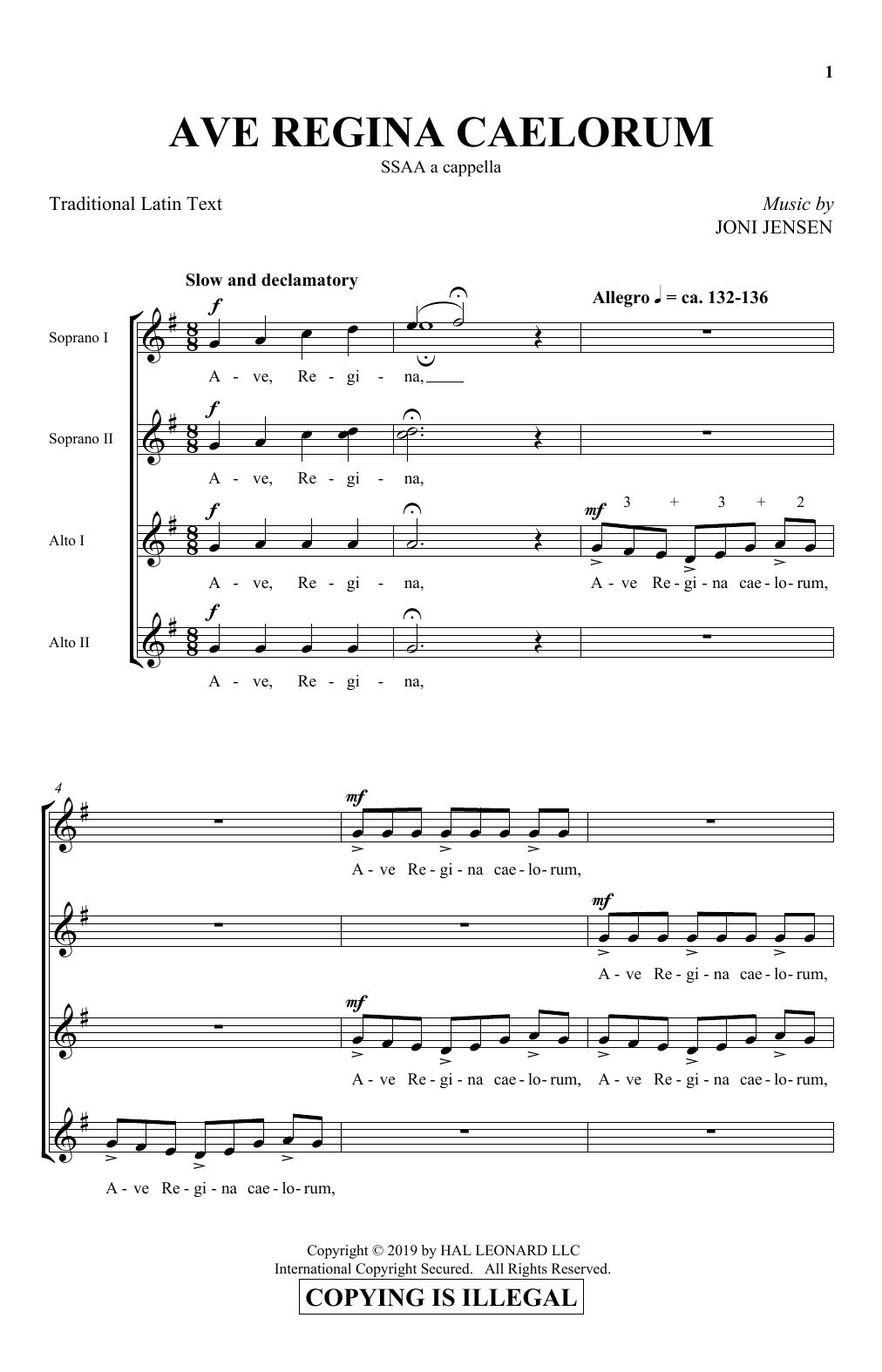 Ave Regina Caelorum (SSA Choir)