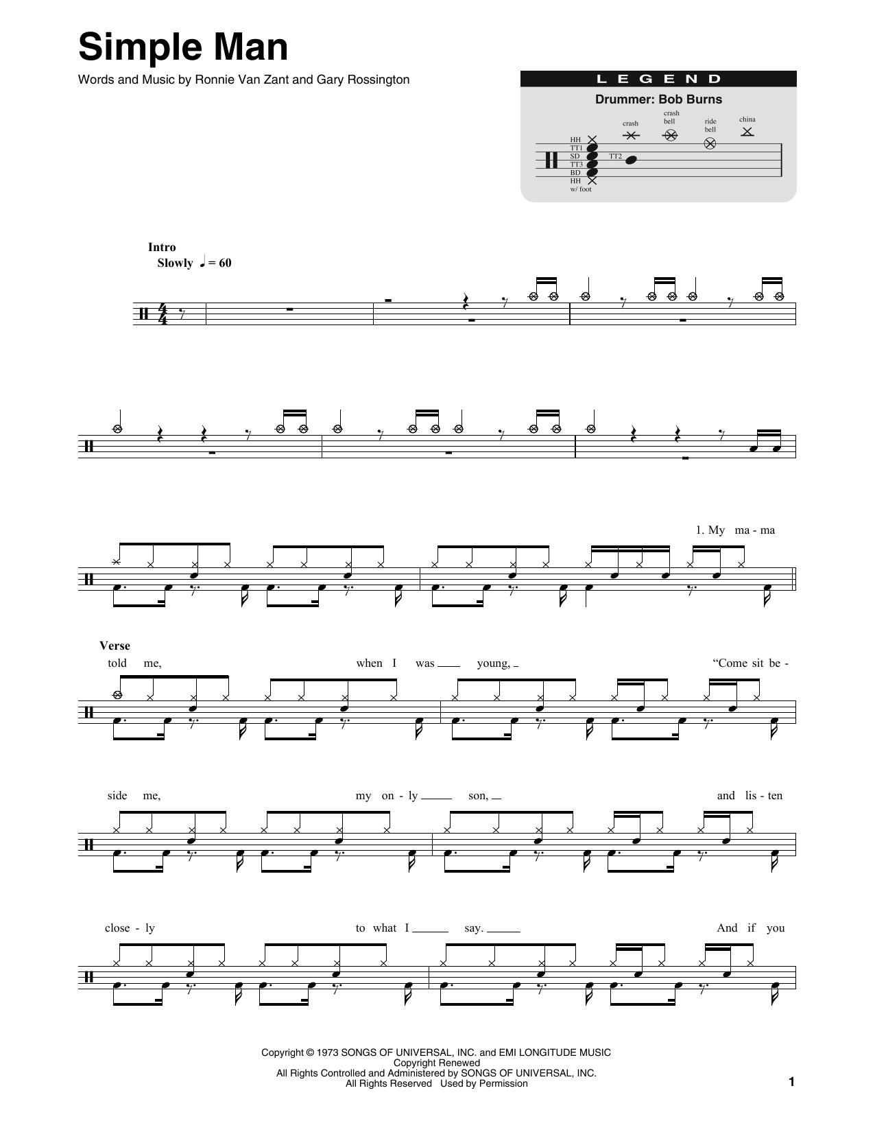 Simple Man (Drums Transcription)