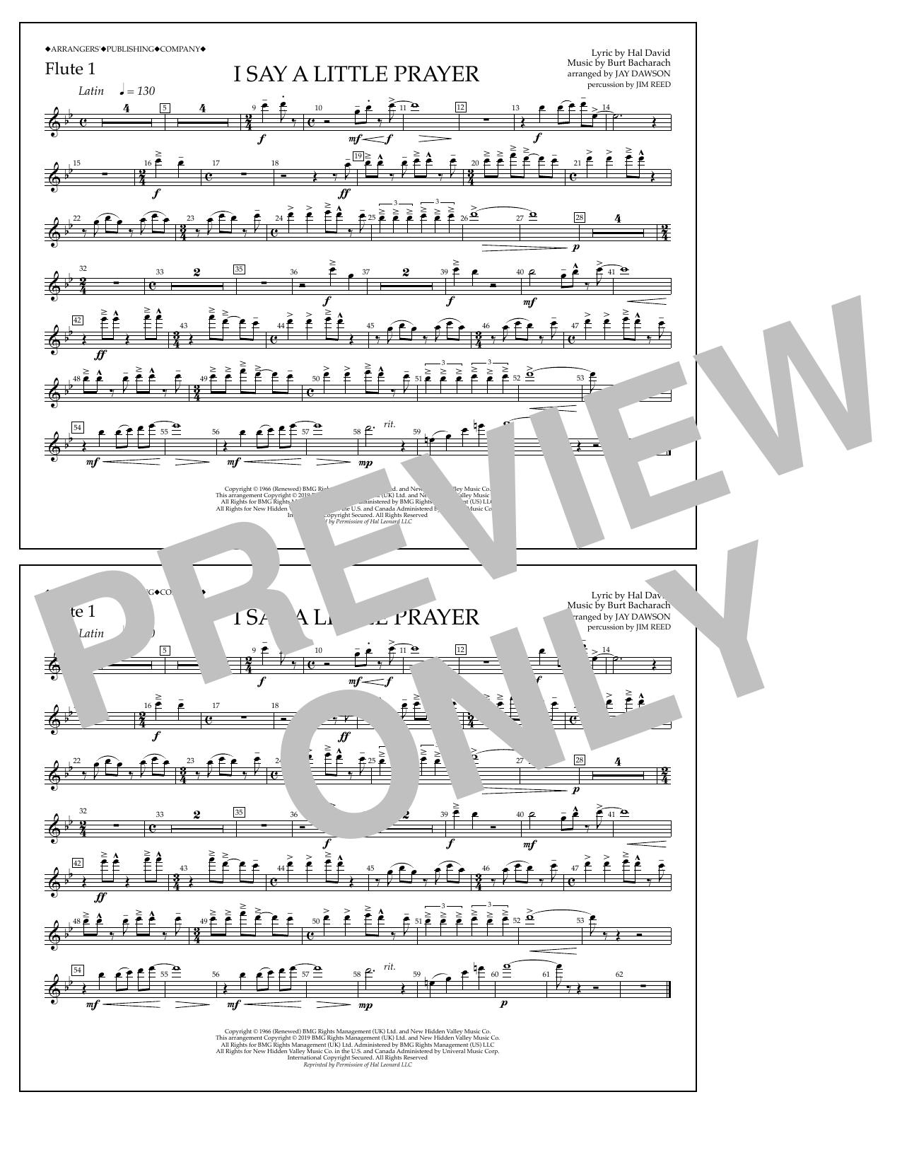I Say a Little Prayer (arr. Jay Dawson) - Flute 1 (Marching Band)