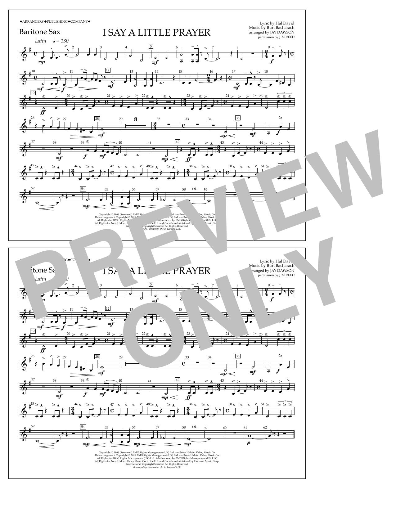I Say a Little Prayer (arr. Jay Dawson) - Bari Sax (Marching Band)