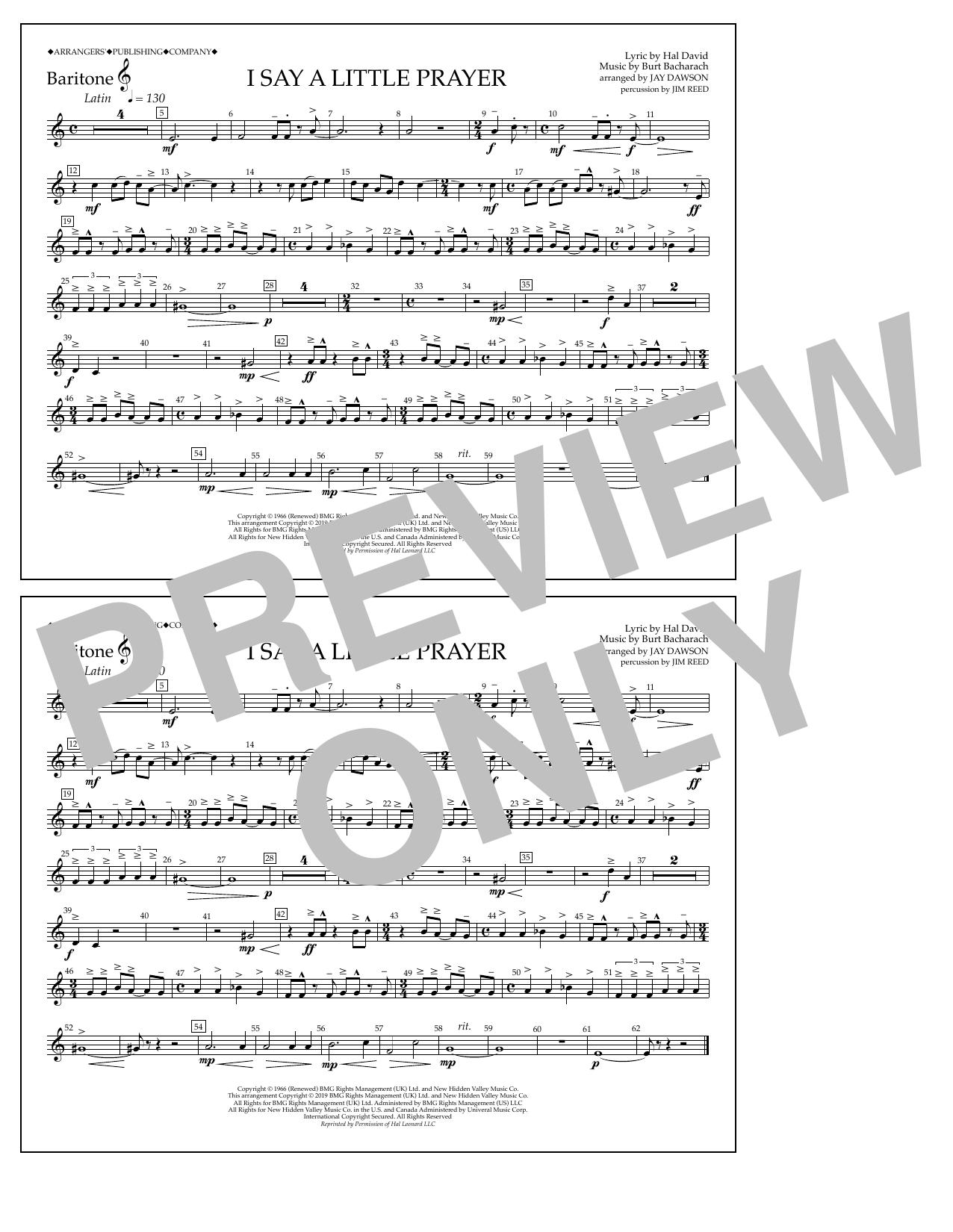 I Say a Little Prayer (arr. Jay Dawson) - Baritone T.C. (Marching Band)