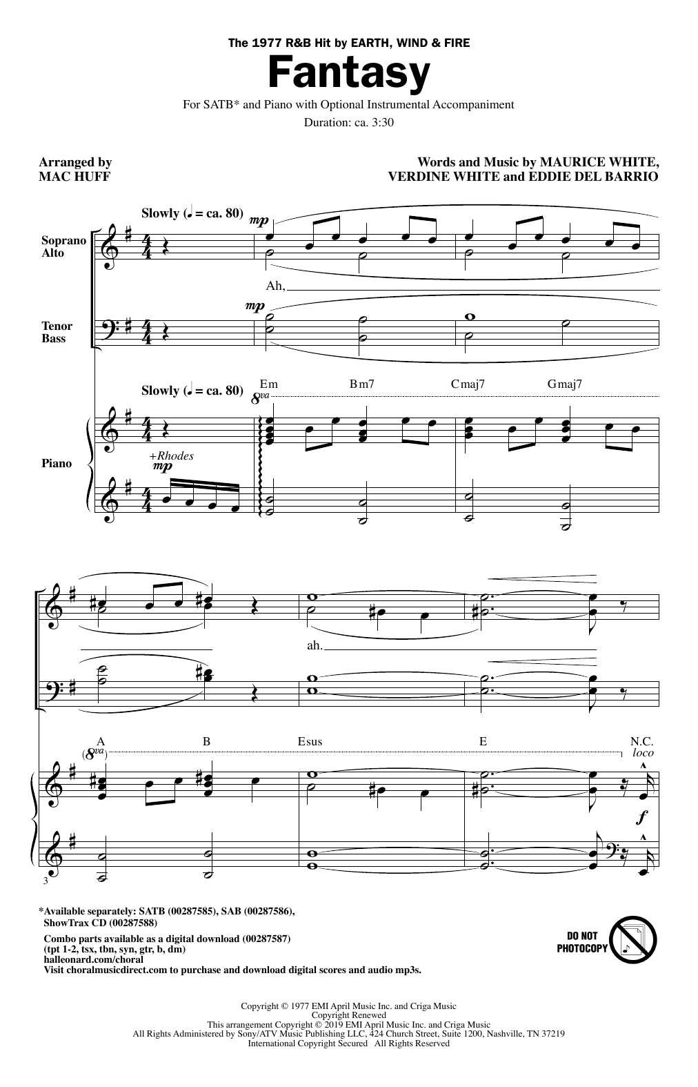 Fantasy (arr. Mac Huff) (SATB Choir)