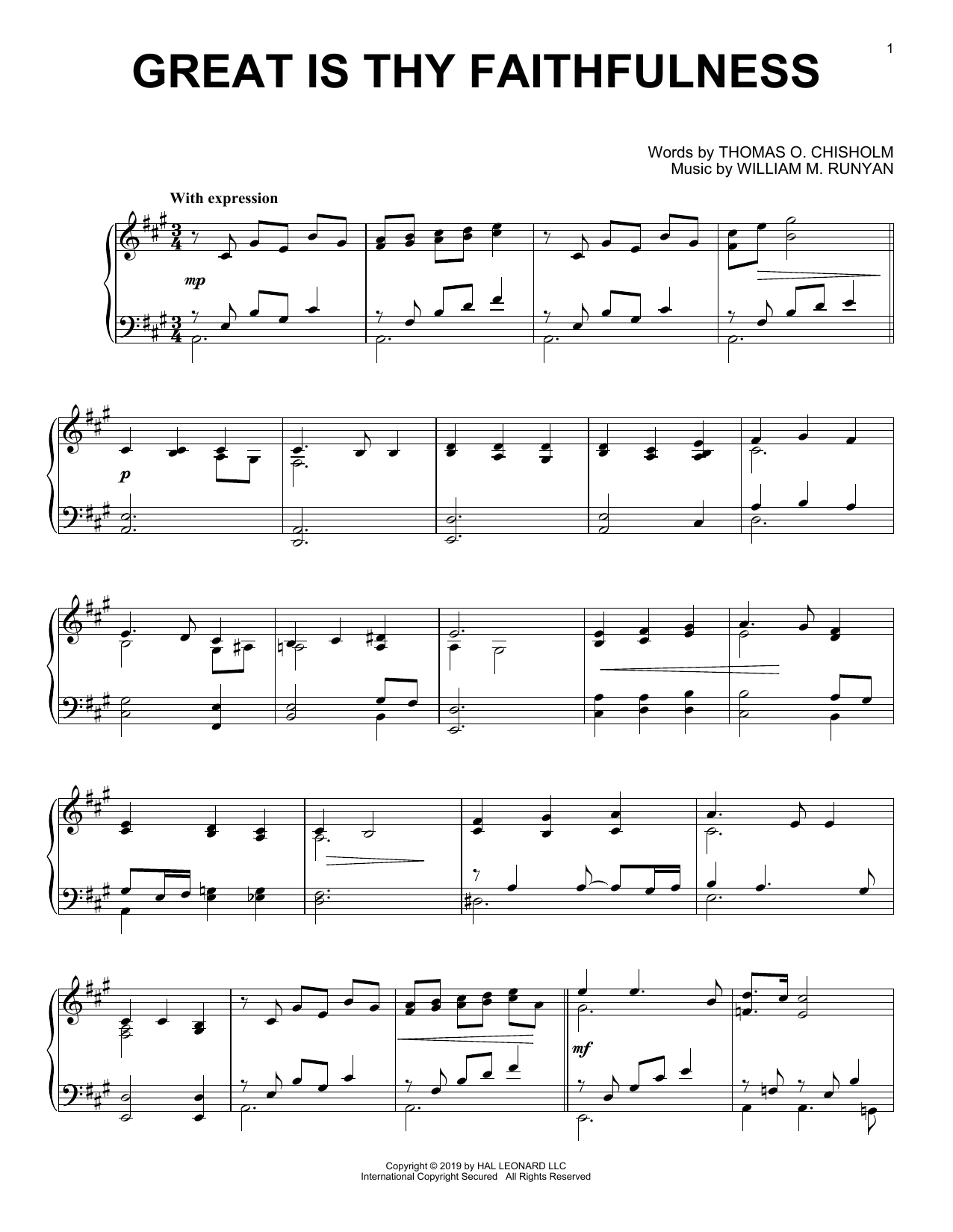 Great Is Thy Faithfulness (Piano Solo)