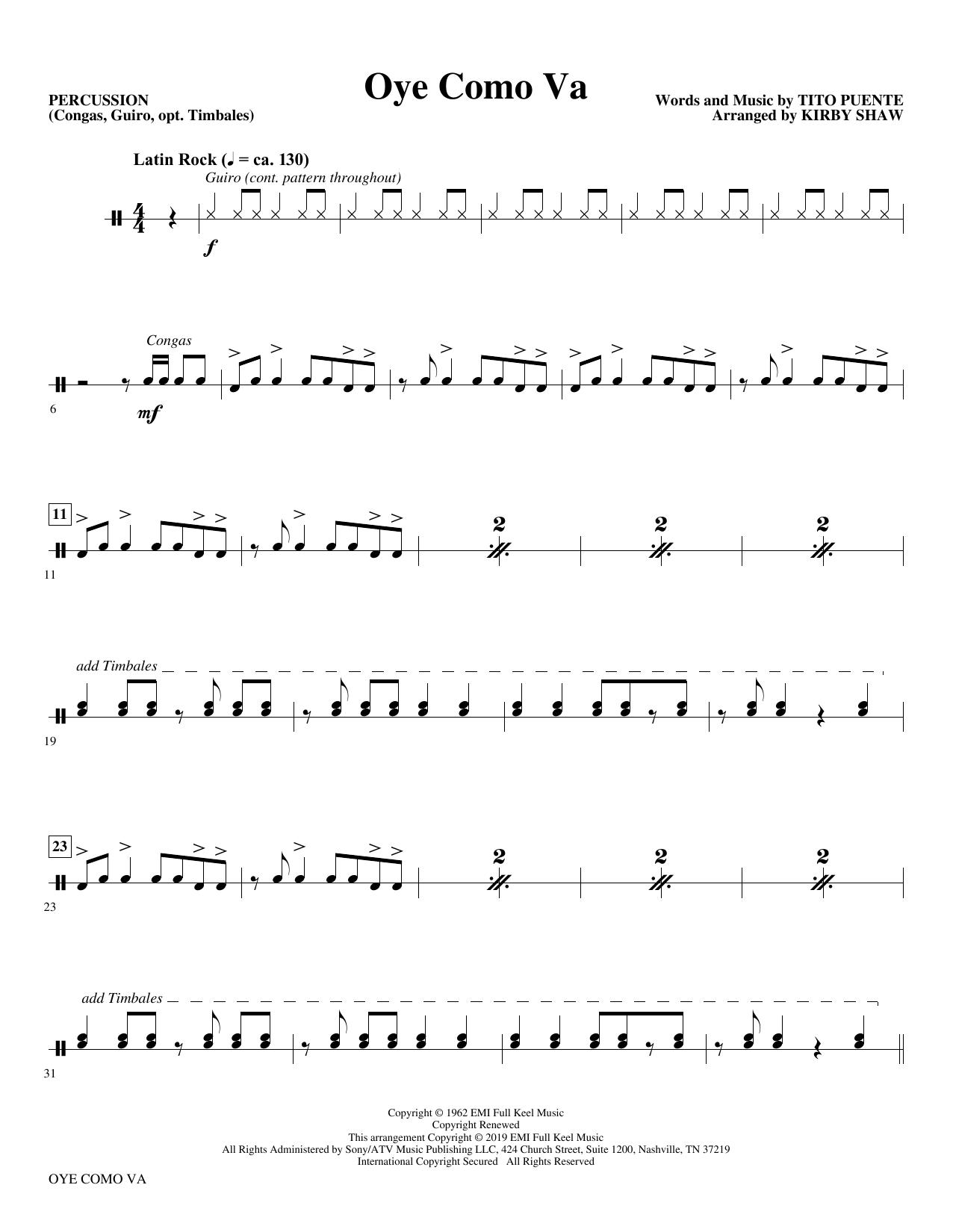 Oye Como Va (arr. Kirby Shaw) - Percussion (Choir Instrumental Pak)