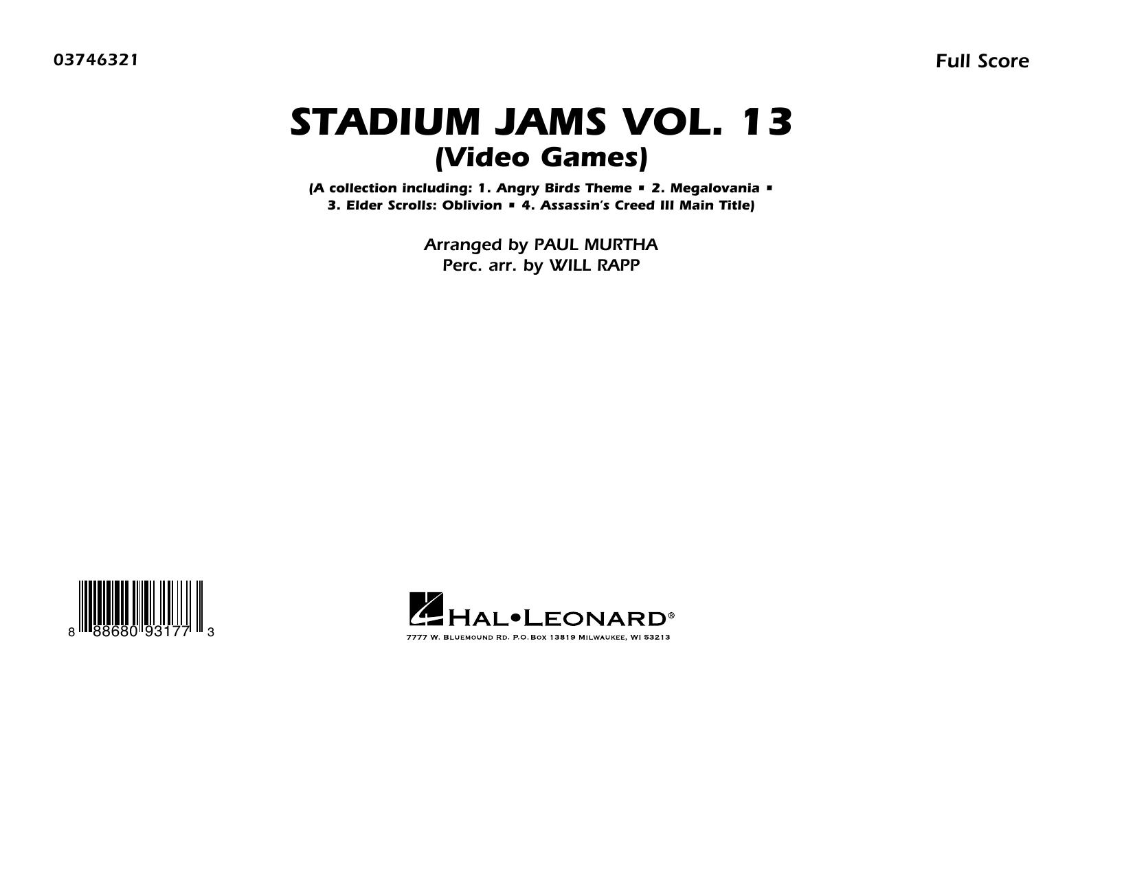 Stadium Jams Volume 13 (Video Games) - Conductor Score (Full Score) (Marching Band)