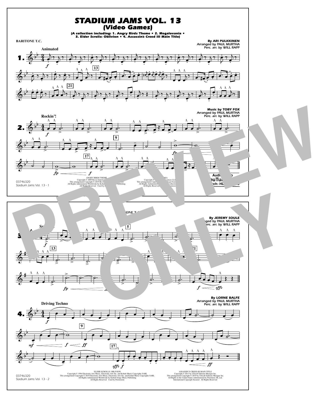 Stadium Jams Volume 13 (Video Games) - Baritone T.C. (Marching Band)