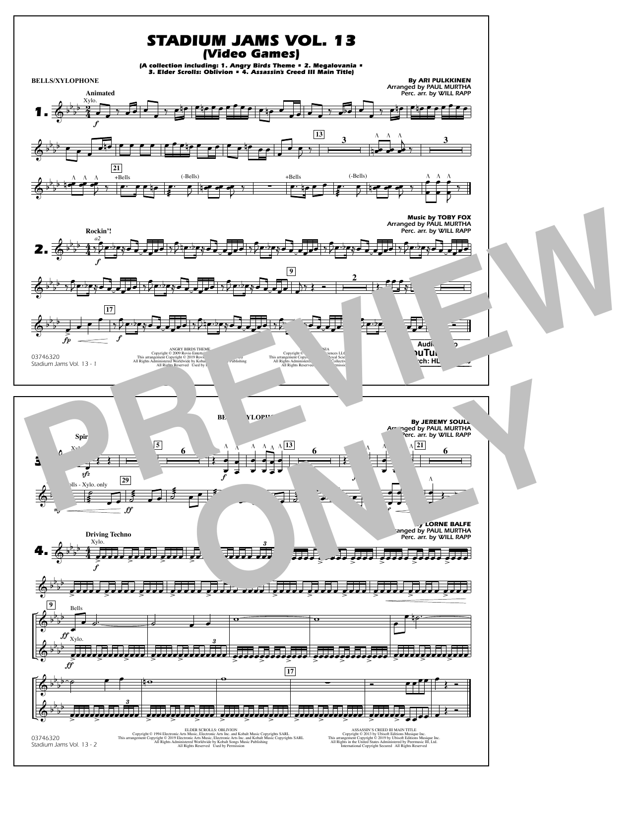 Stadium Jams Volume 13 (Video Games) - Bells/Xylophone (Marching Band)