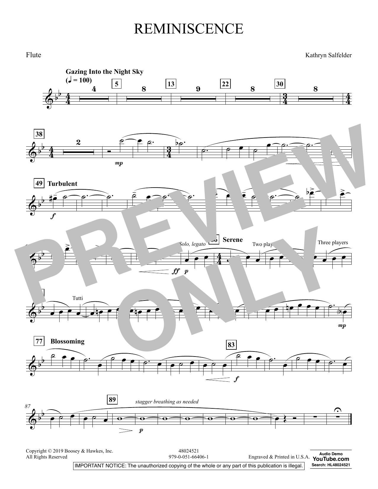 Reminiscence - Flute (Concert Band)