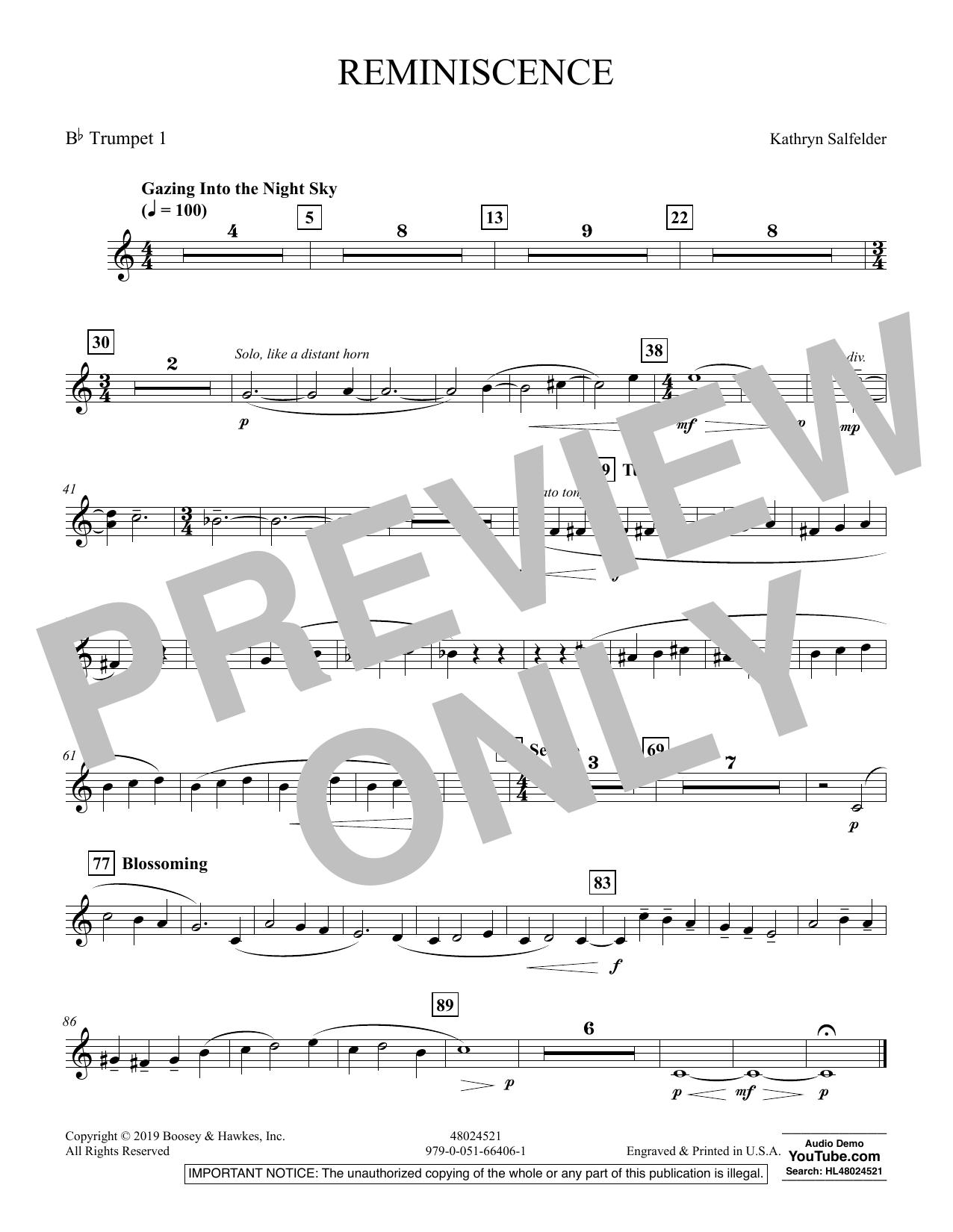 Reminiscence - Bb Trumpet 1 (Concert Band)