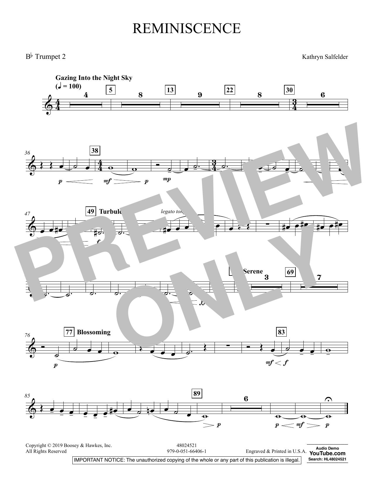 Reminiscence - Bb Trumpet 2 (Concert Band)