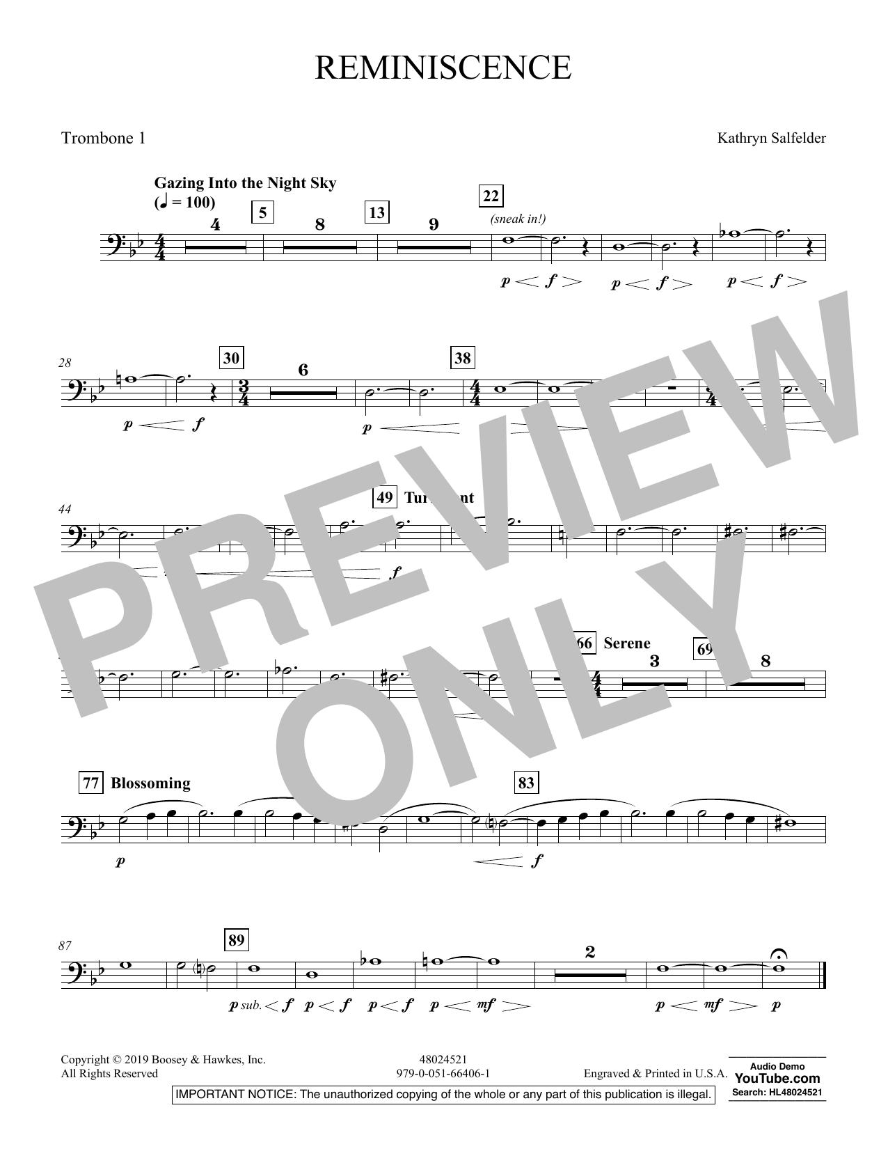 Reminiscence - Trombone 1 (Concert Band)