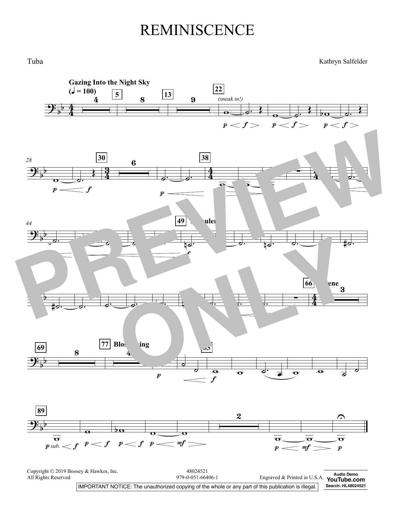 Reminiscence - Tuba (Concert Band)
