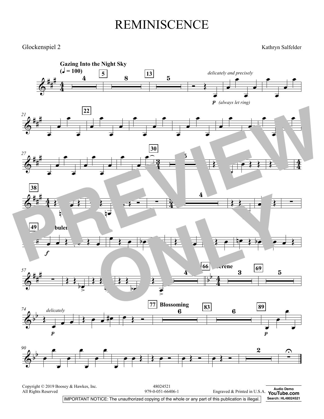 Reminiscence - Glockenspiel 2 (Concert Band)