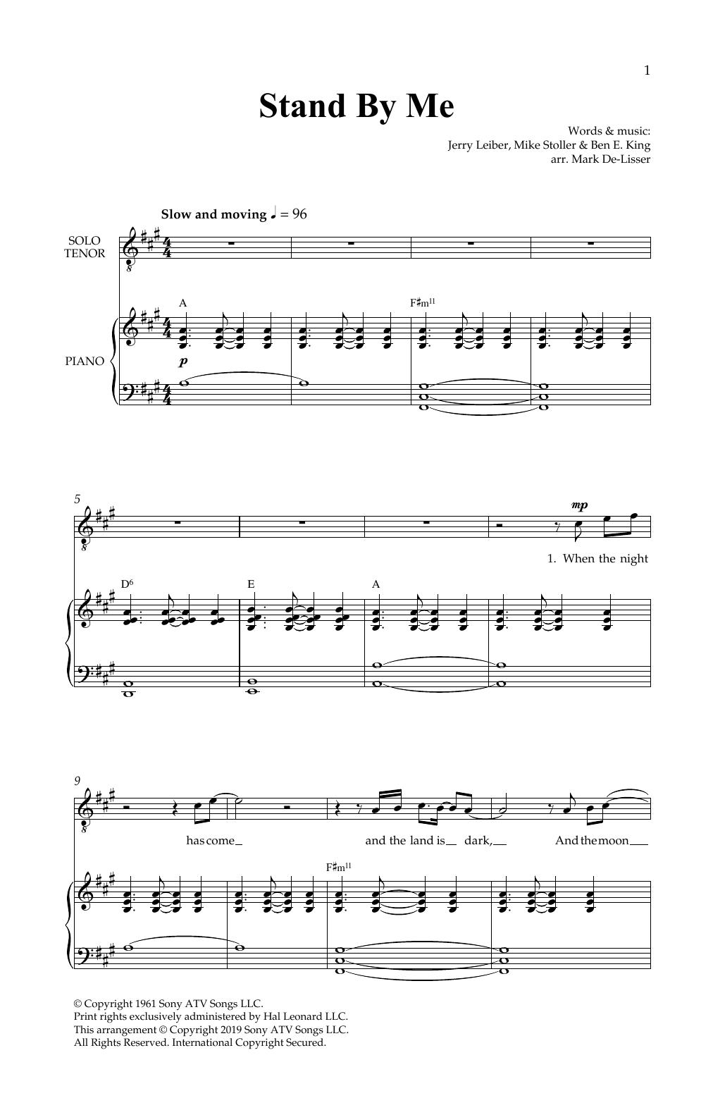 Stand By Me (Royal Wedding Version) (arr. Mark De-Lisser) Sheet Music