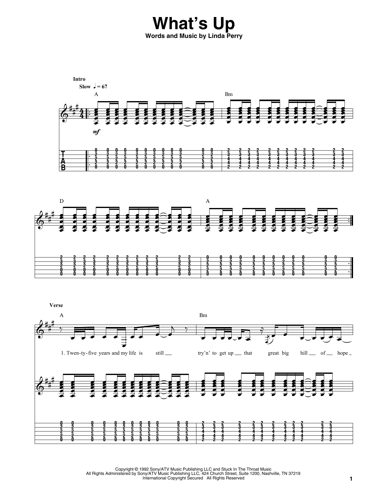 Up chords whats Whats Up