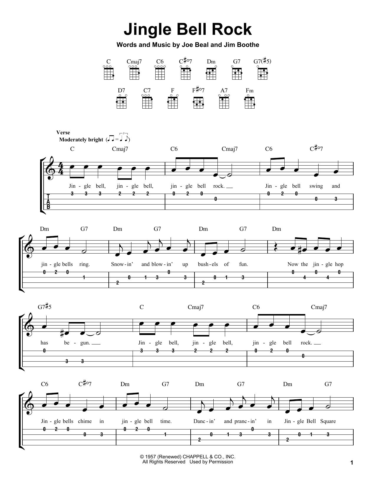Jingle Bell Rock (Easy Ukulele Tab)