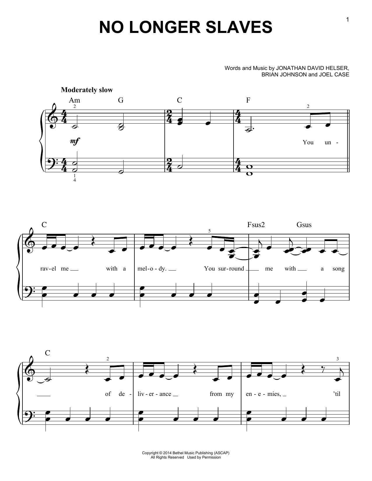 No Longer Slaves (Easy Piano)