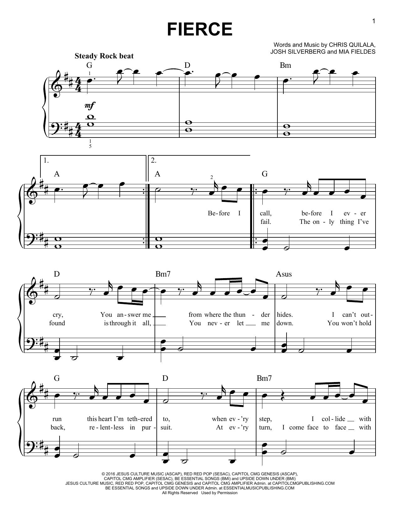 Fierce (Easy Piano)