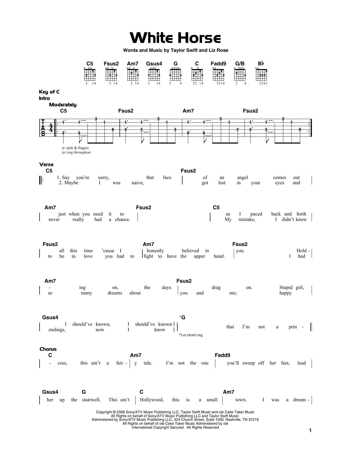White Horse (Really Easy Guitar)