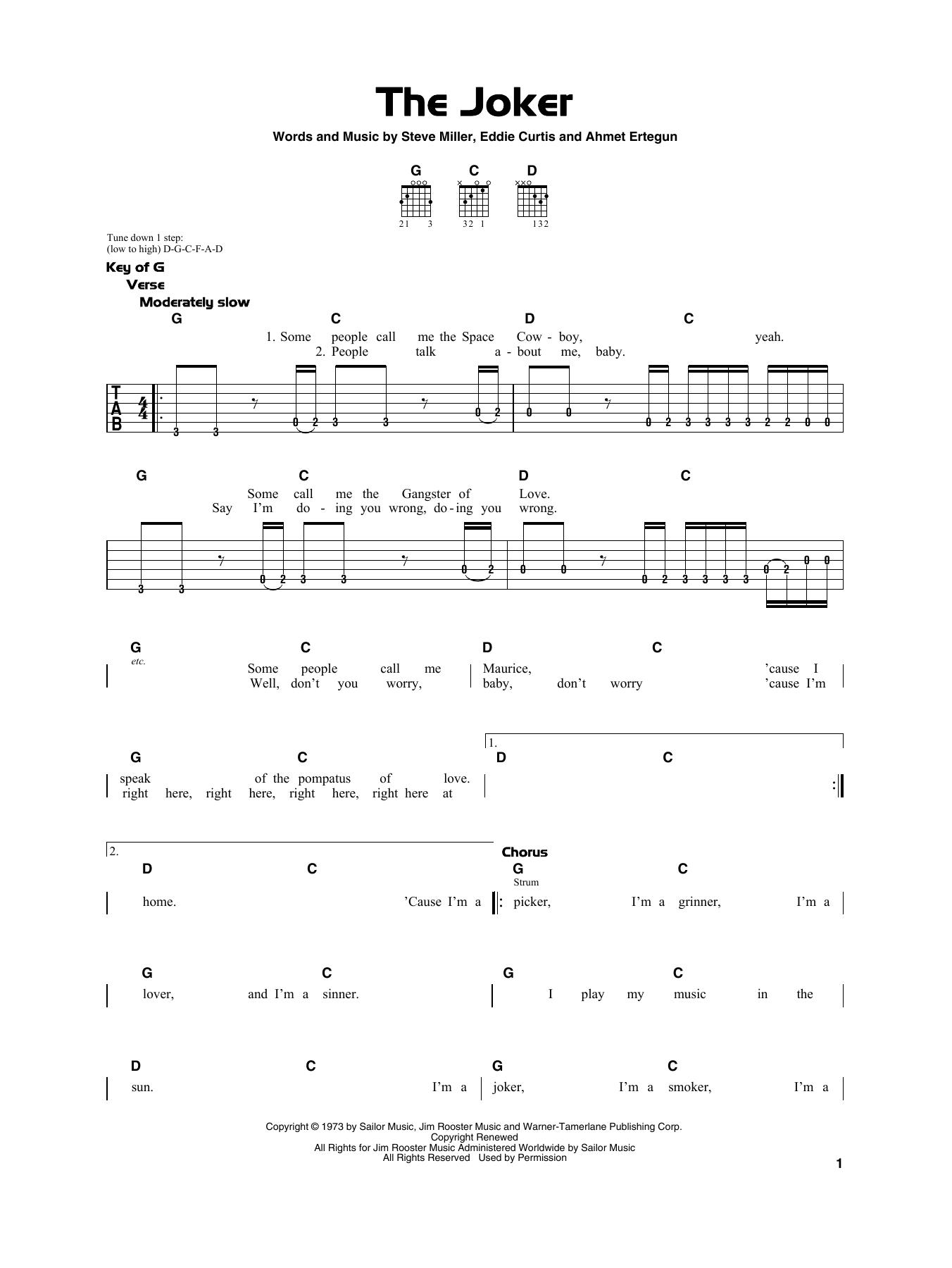 The Joker (Really Easy Guitar)