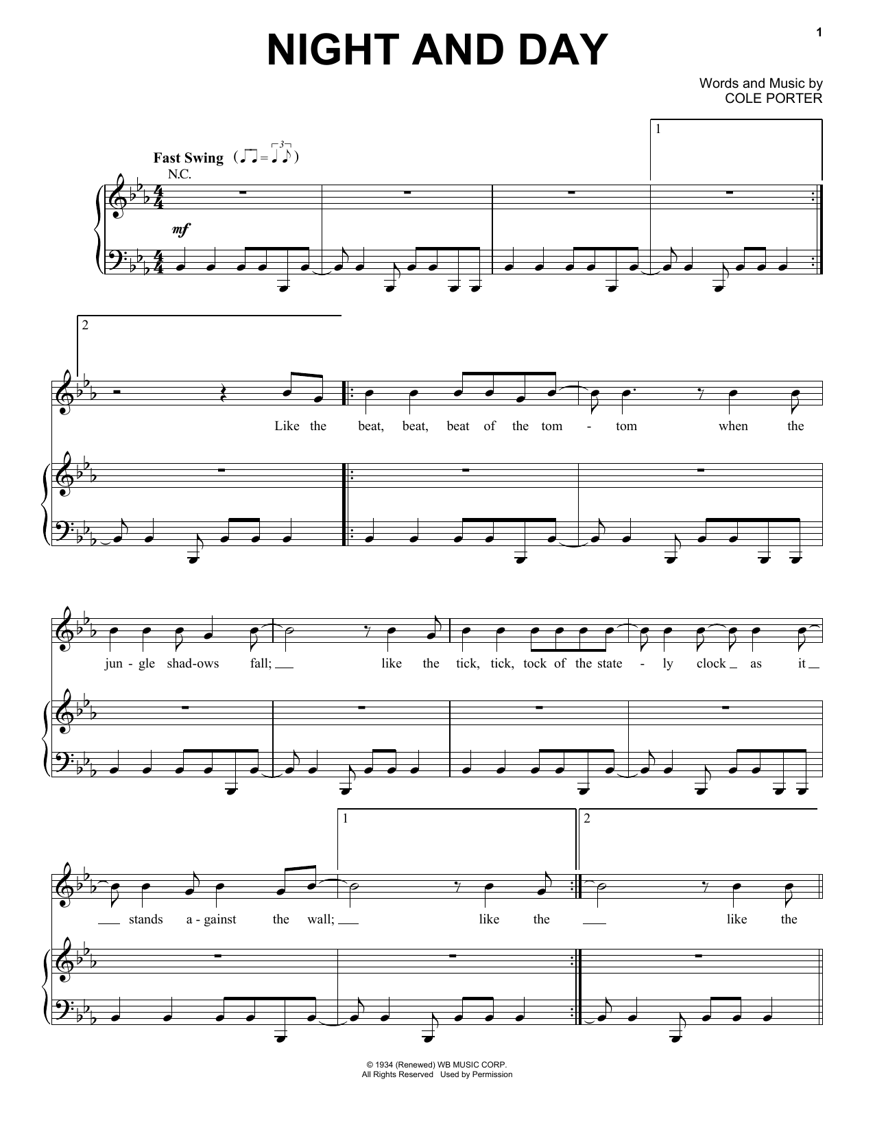 Night And Day (Piano & Vocal)