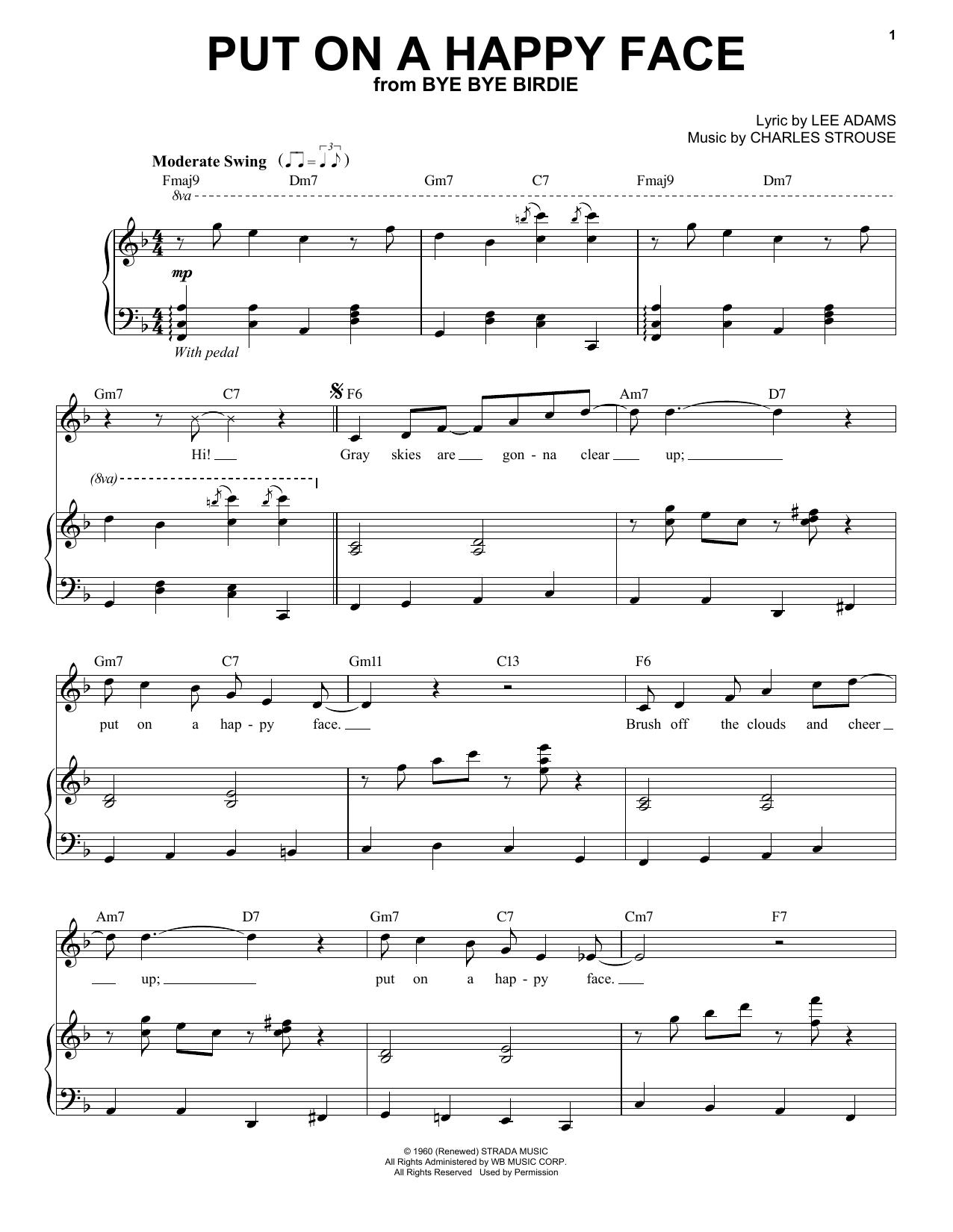 Put On A Happy Face (Piano & Vocal)
