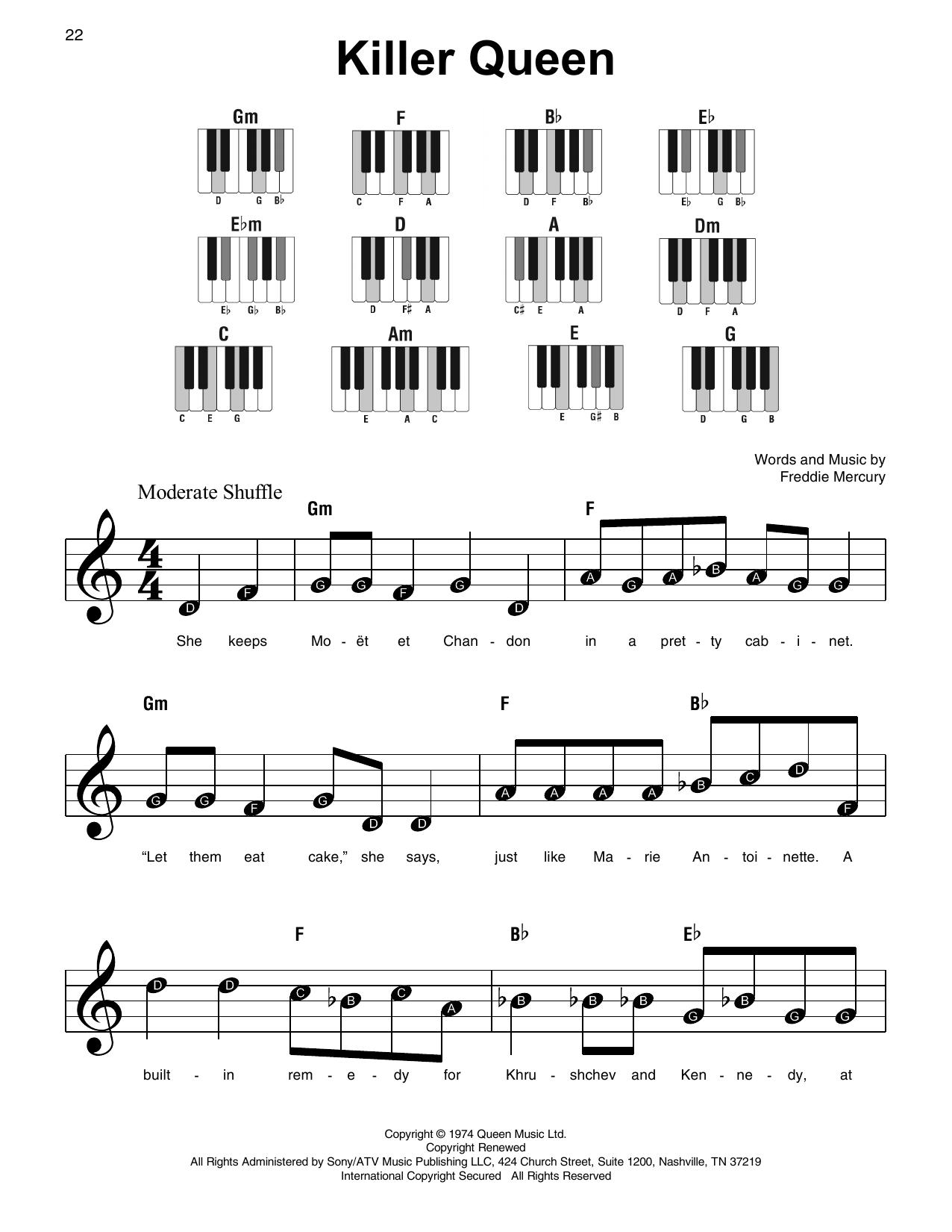 Killer Queen (Super Easy Piano)