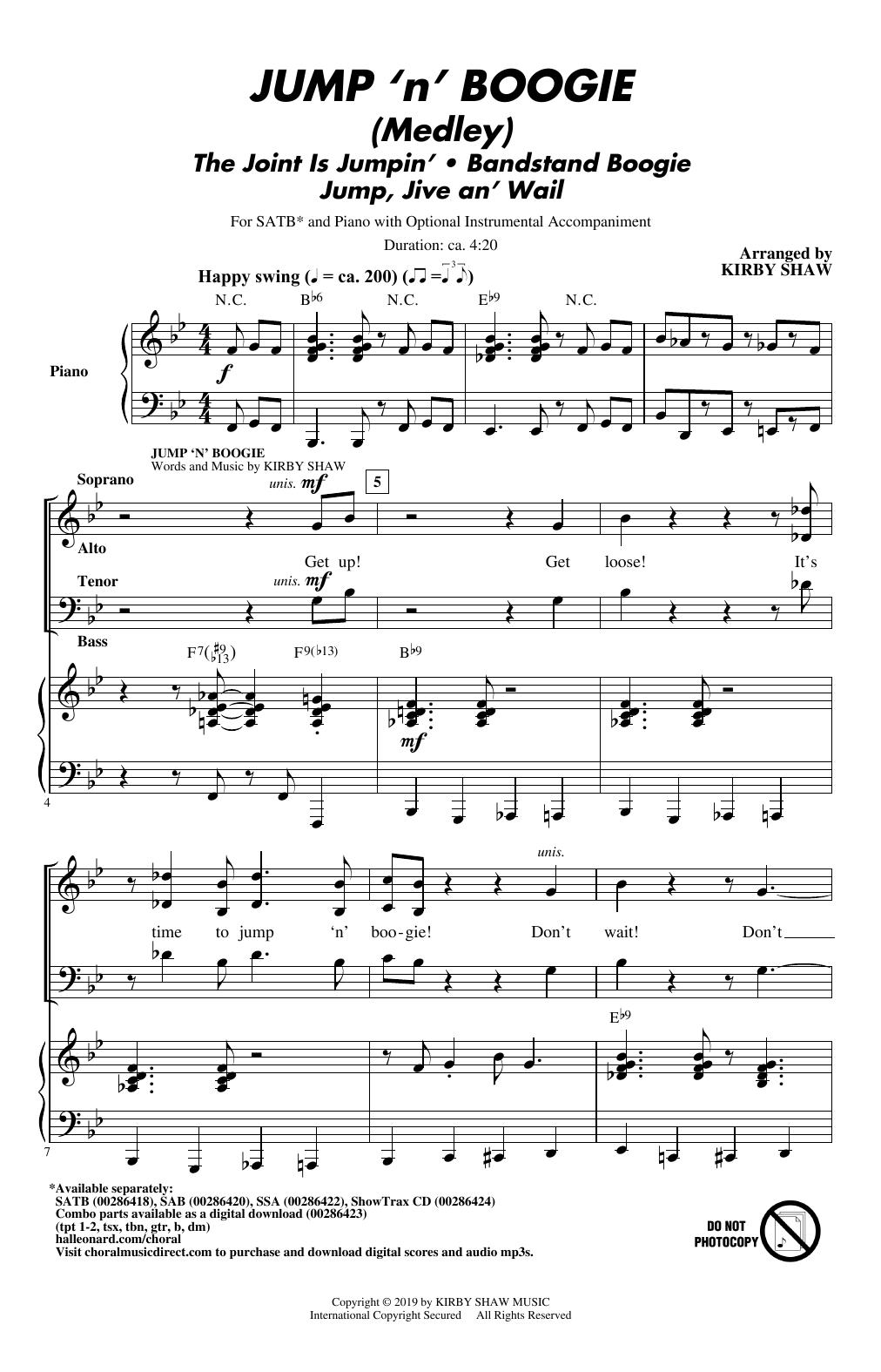 Jump 'n' Boogie (Medley) (SATB Choir)