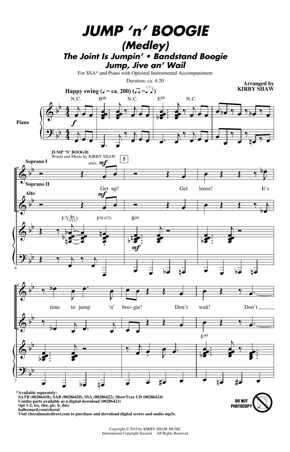 Jump 'n' Boogie (Medley) (SSA Choir)