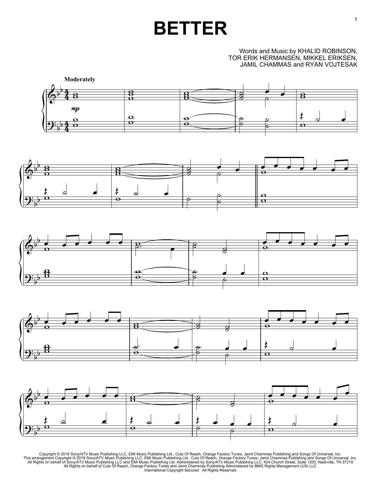 Better (Piano Solo)