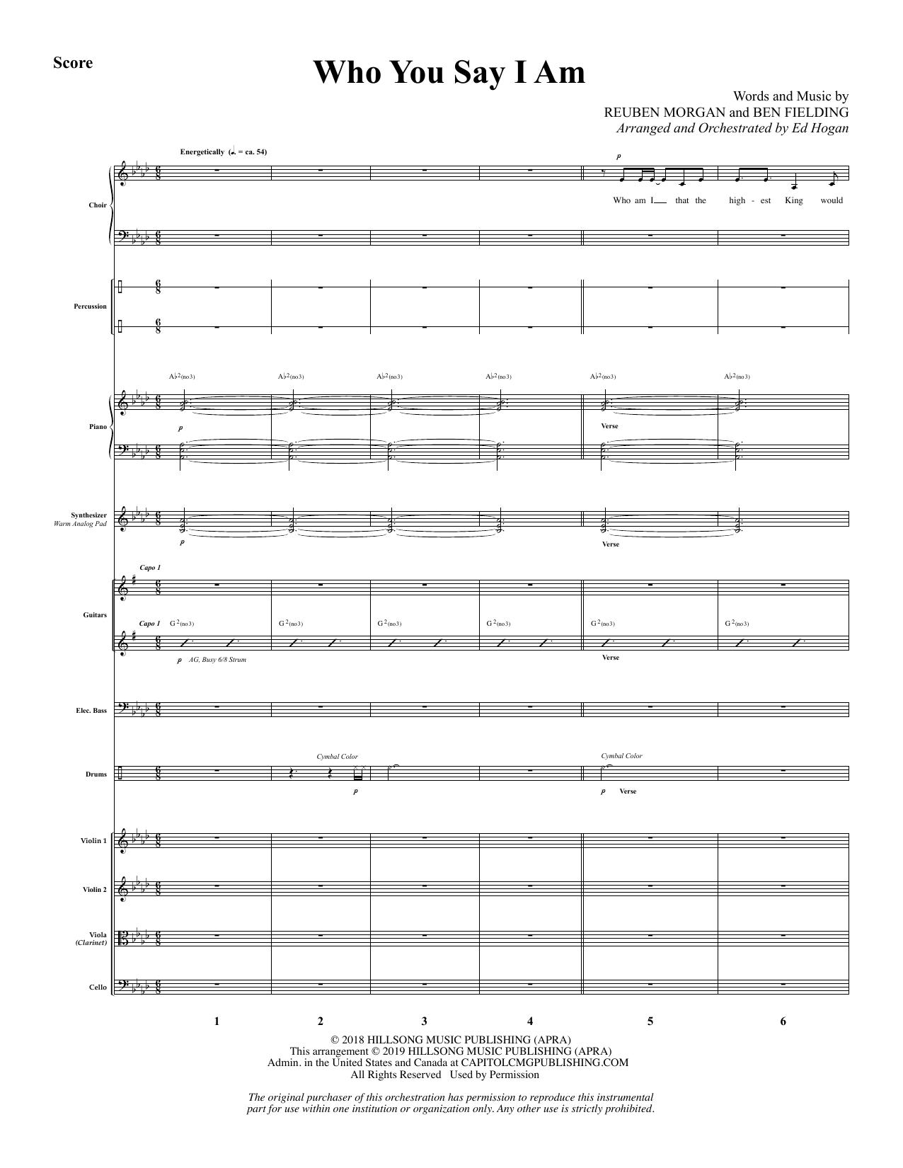 Who You Say I Am (arr. Ed Hogan) - Full Score Sheet Music