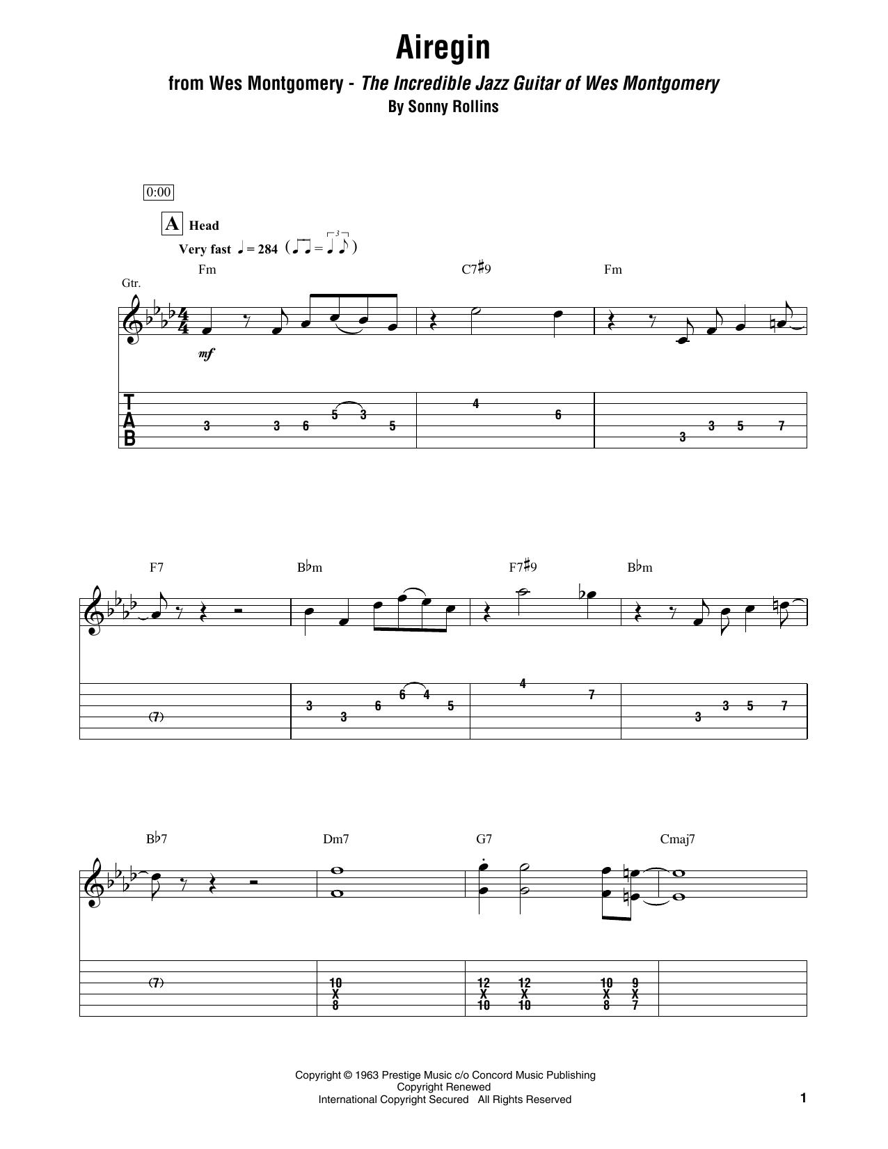 Airegin Sheet Music