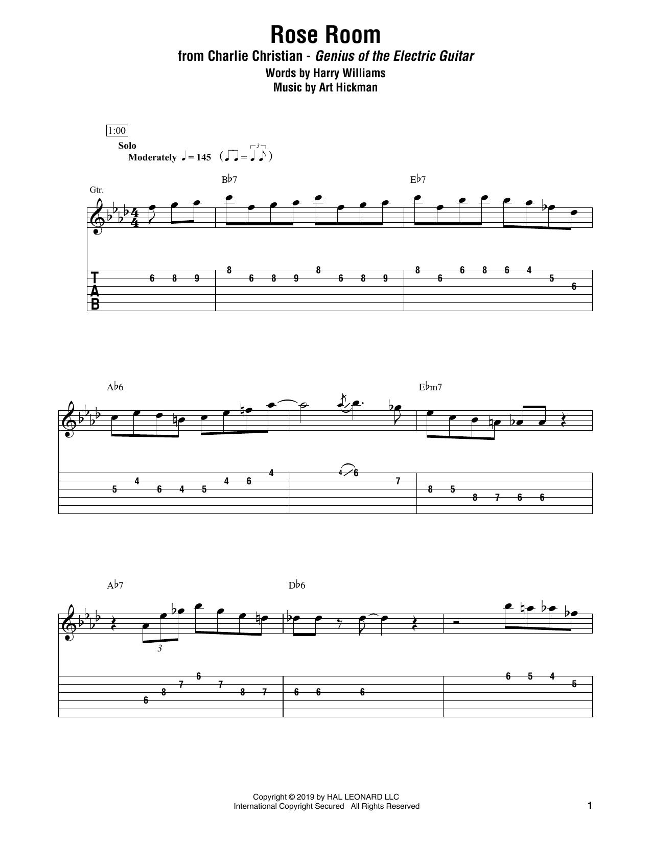 Rose Room (Electric Guitar Transcription)
