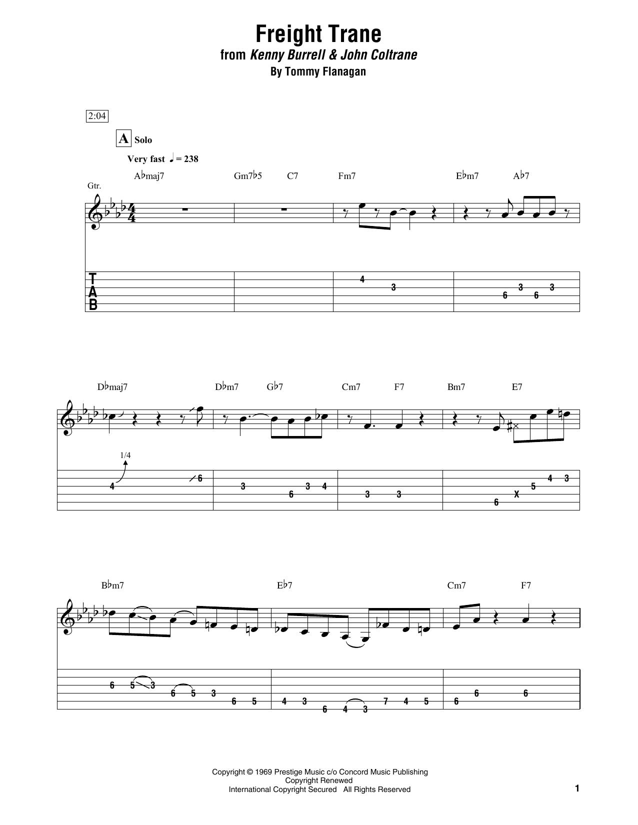 Freight Trane Sheet Music