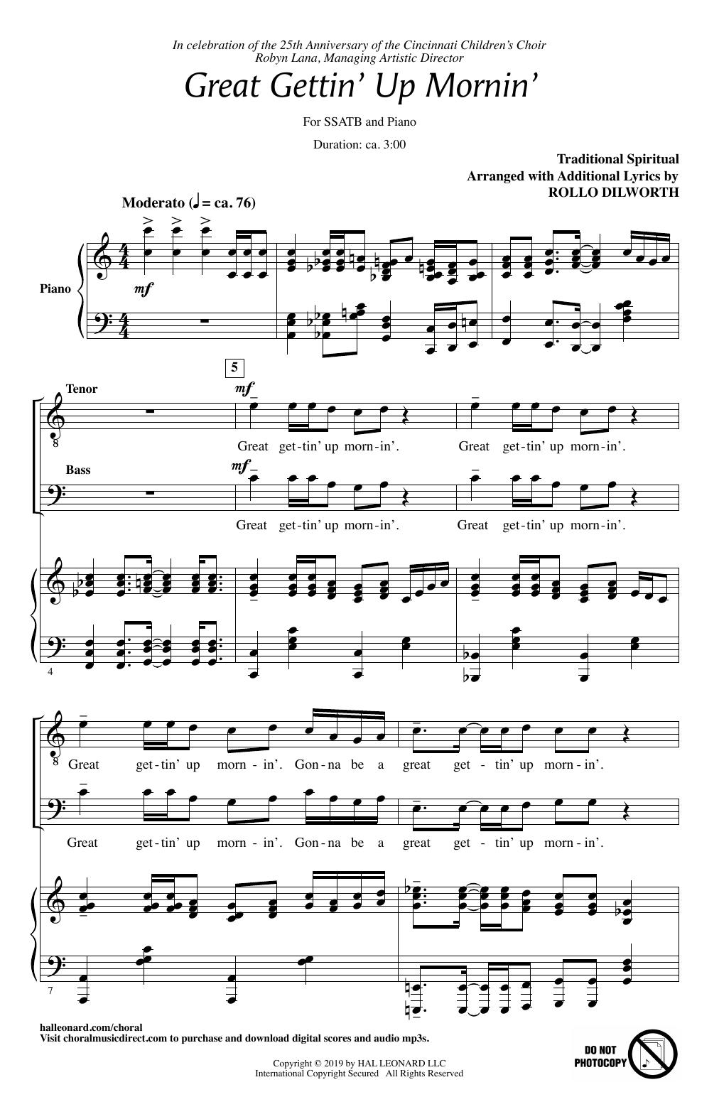 Great Gettin' Up Mornin' (arr. Rollo Dilworth) (SATB Choir)