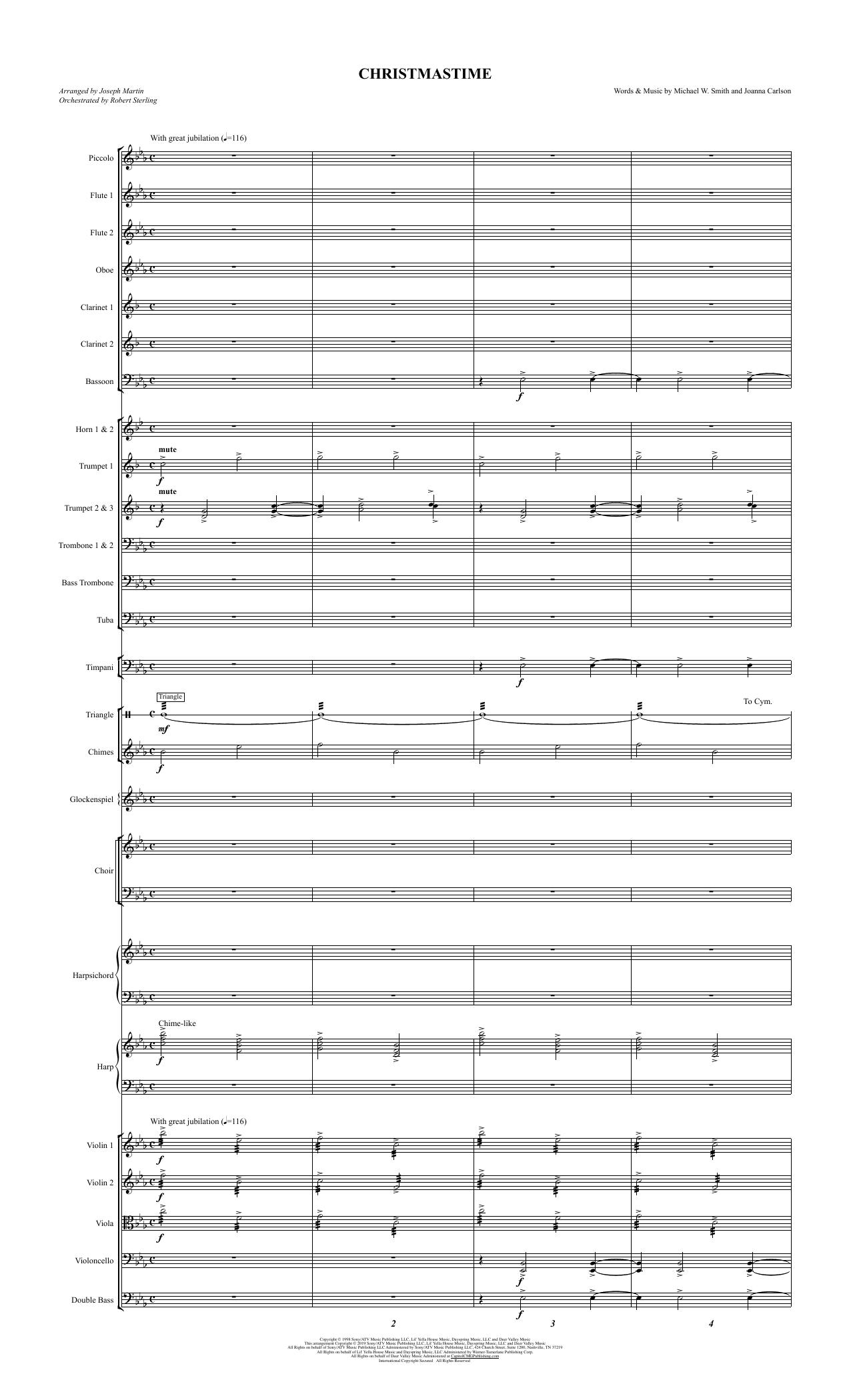 Christmastime (arr. Joseph M. Martin) - Full Score (Choir Instrumental Pak)