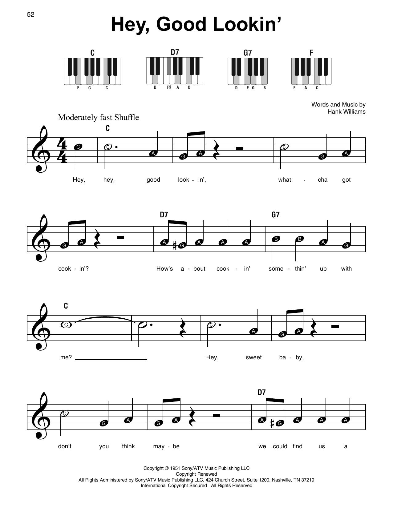Hey, Good Lookin' (Super Easy Piano)