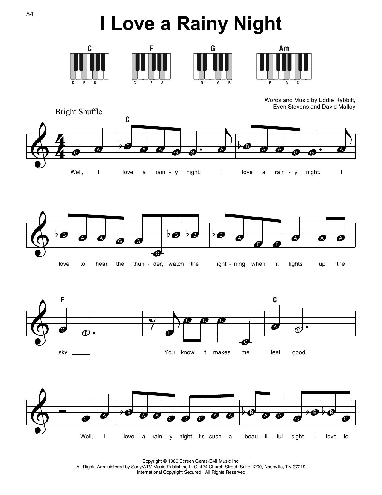 I Love A Rainy Night (Super Easy Piano)