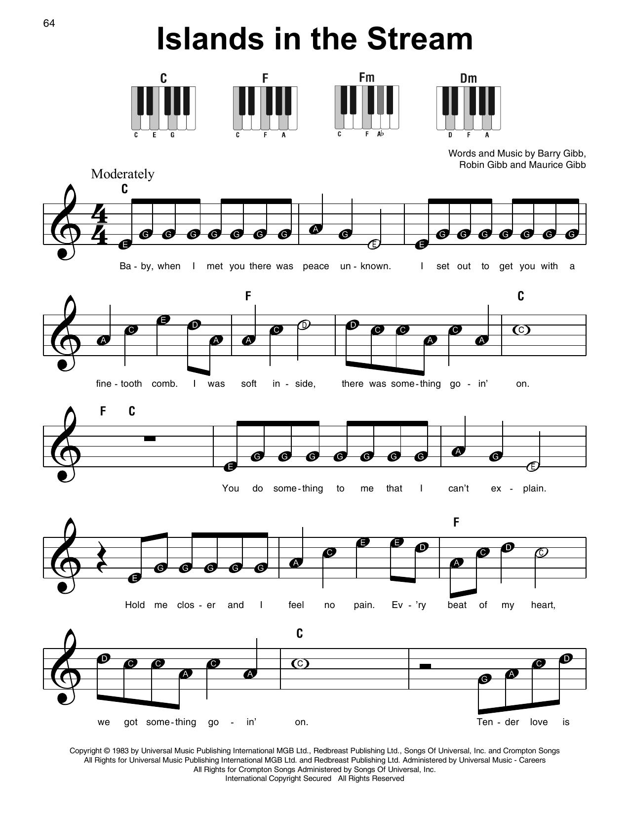 Islands In The Stream (Super Easy Piano)