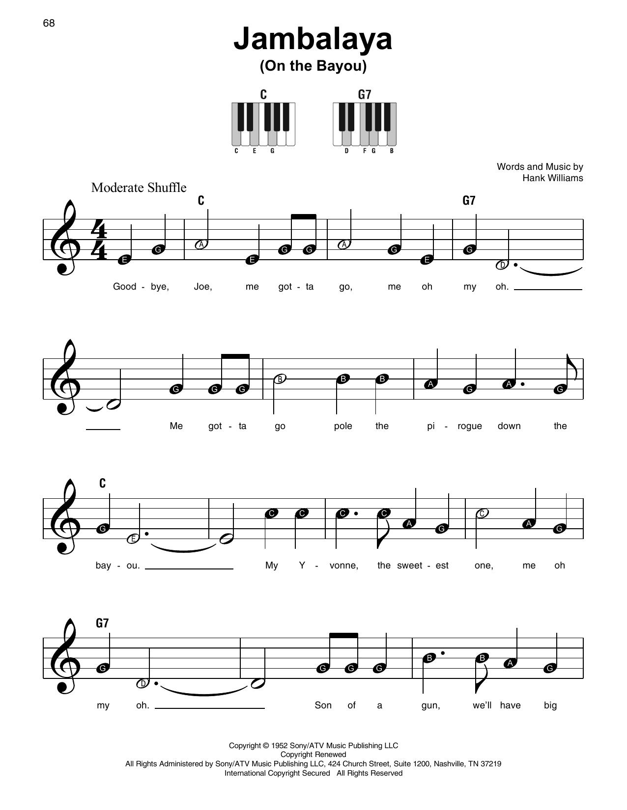 Jambalaya (On The Bayou) (Super Easy Piano)